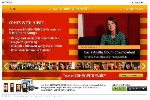 Neue Musik-Flatrate von Nokia. Die Idee ist gut, an der Umsetzung hakt es noch.