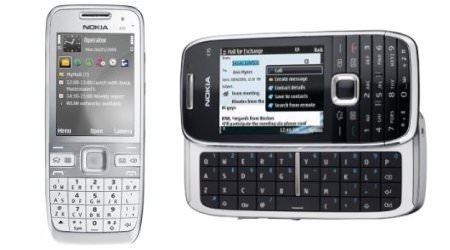 Neue E-Serien-Modelle von Nokia: E55 (links) und E75.