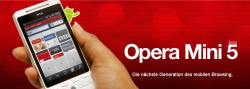 Opera Mini 5 Beta für Android ab sofort verfügbar!