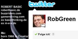 Mindestpreis nicht erreicht: Auktion des Twitter-Accounts @robgreen geht in die nächste Runde