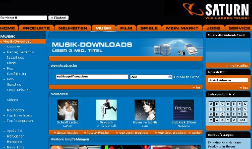 Drei Millionen Songs bei saturn stehen ab sofort ohne Kopierschutz zur Verfügung.