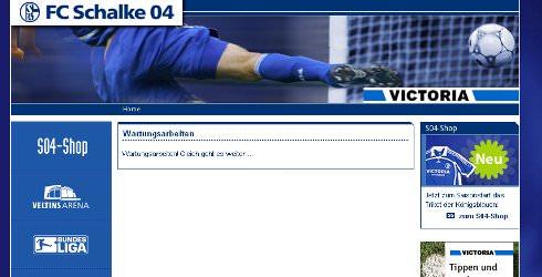 Die Schalke-Homepage ist nach einem Hacker-Angriff erst mal abgeschaltet.