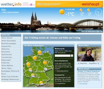Neues Kachelmann-Wetterportal: wetter.info